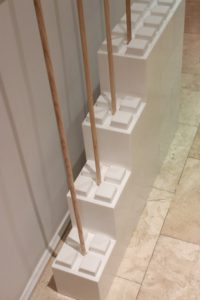 Wooden Dowels provide extra stability